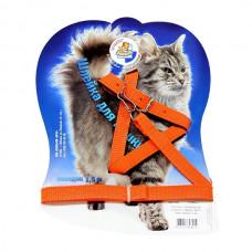 Зооник - Шлейка с поводком 1,5 м  для кошек