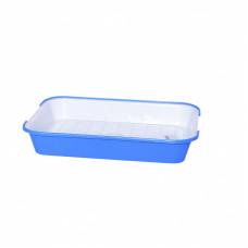 Зооник - Туалет для кошек с сеткой N 2, поддон 39*28см голубой
