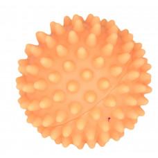 """Зооник - Игрушка для собак """"Мяч массажный №1"""" винил,  5,5см оранжевый"""