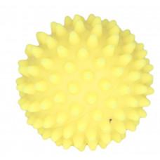 """Зооник - Игрушка для собак """"Мяч массажный №2"""" винил желтый"""